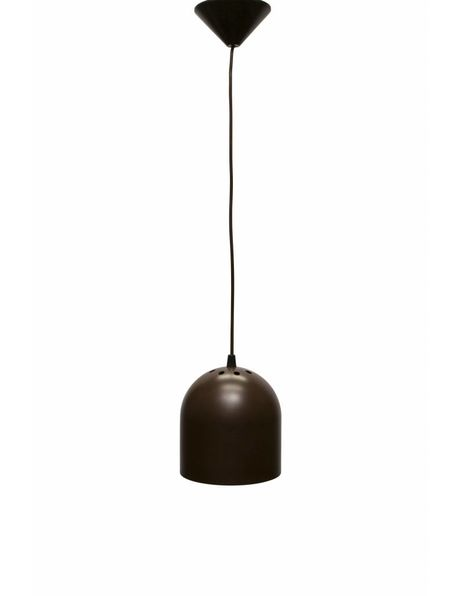 Design hanglamp, jaren 60, bruine cilinder