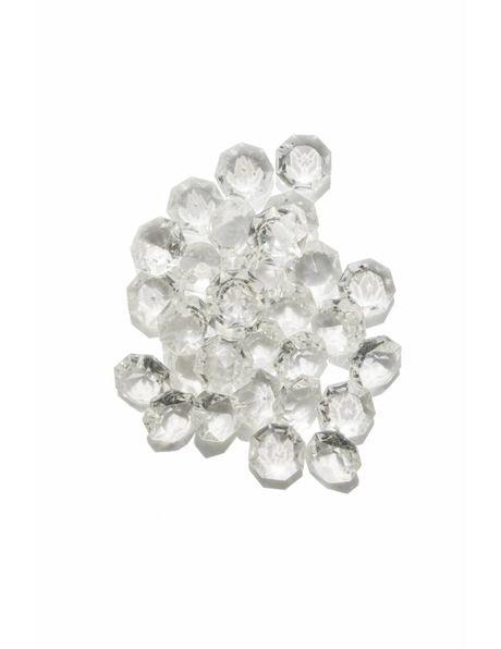 kristalglazen kraal, octagon met ster patroon