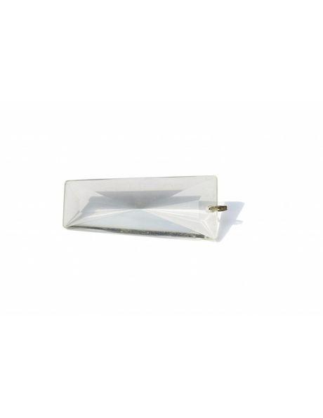Chandelier parts, transparent glass bead