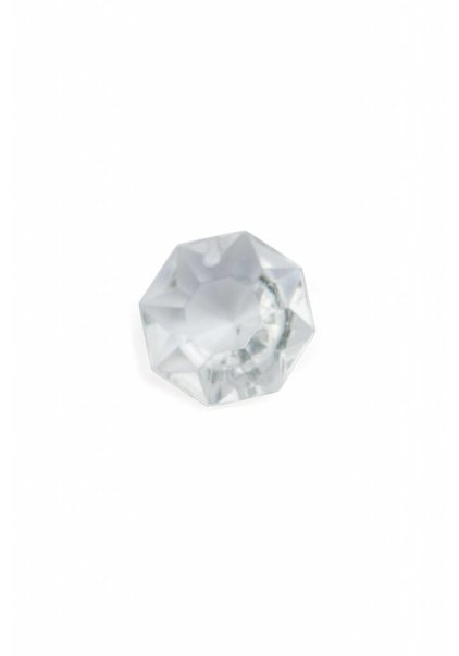 Octagon, Glass Bead, 1.8 cm / 0.7 inch, Bag of 5 Pieces