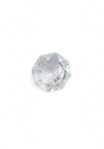 Octagon, Glazen Kraal, 1.5 cm, Zakje van 5 Stuks