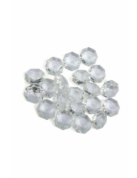 Kristalglazen kraal 1.5 cm met inwendige ster