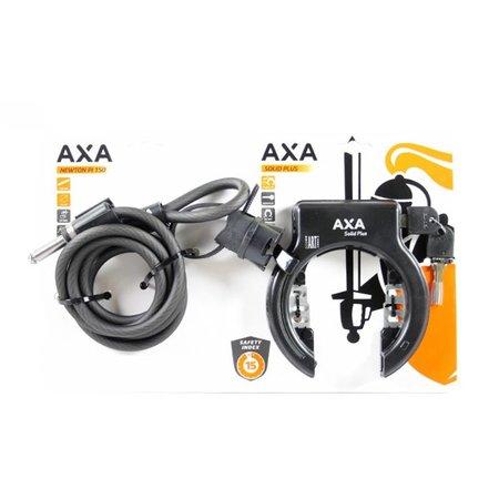 AXA Ringslot Solid Plus + insteekkabel RLN Newton 150 ART-2