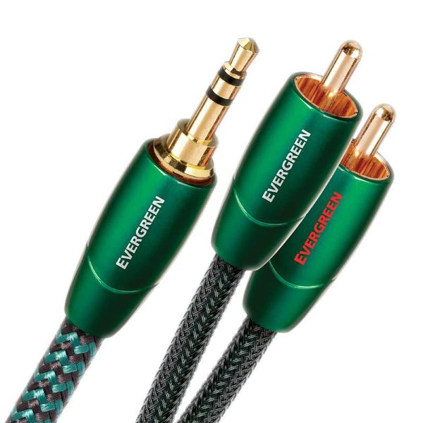 AUDIOQUEST EVERGREEN Stereo Cinch-Kabel 3.5mm Klinke - RCA