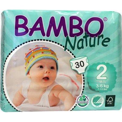 Bambo Nature Babyluier mini 2, 3-6 kg (30 stuks)