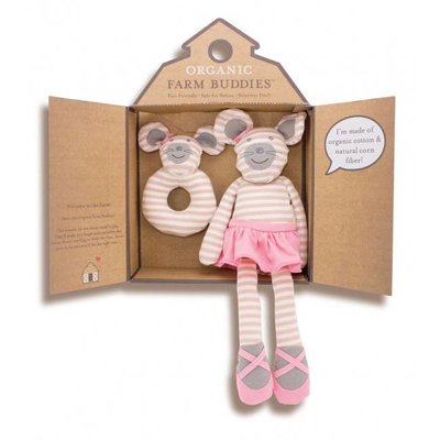 Applepark Organic Farm Buddies Gift Set Ballerina Mouse