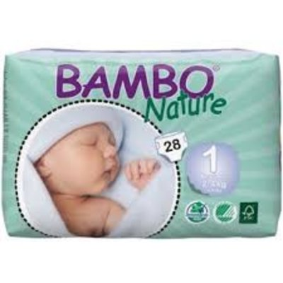 Bambo Bambo Nature Babyluier mini 1 (Newborn), 2-4 kg (28 stuks)
