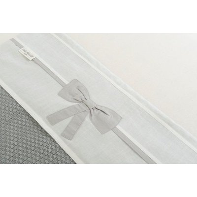 Little Naturals by Jollein Laken Linnen bow 120x150 cm white/grey