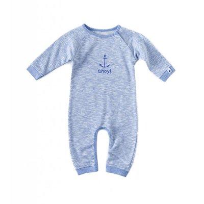 Little Label Sweat pyjama / boxpakje – lichtblauw gemêleerd