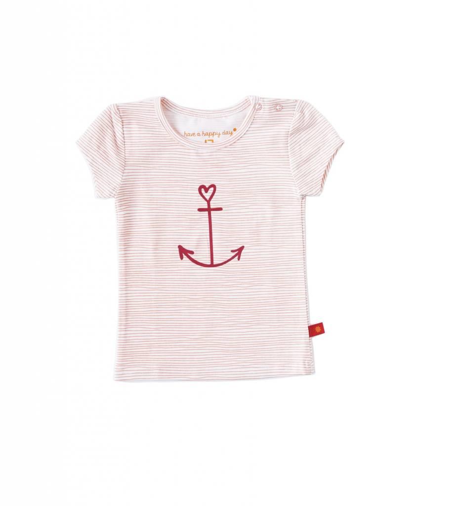 778fdc6c9db98e Little Label Shirt korte mouw girls – lichtroze gestreept - MamaMoments