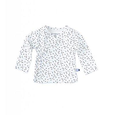 Little Label Wikkelshirt lange mouw – black & blue dots
