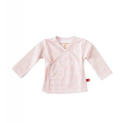 Little Label Wikkelshirt lange mouw – lichtroze gestreept