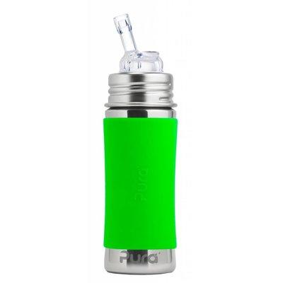 Pura Kiki Fles met rietje groen - 325 ml