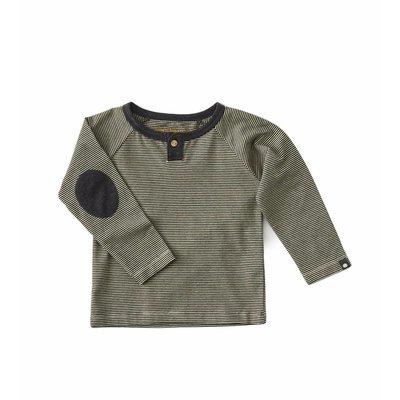 Little Label Shirt baby boy – zwarte streepjes – maat 74 en 80