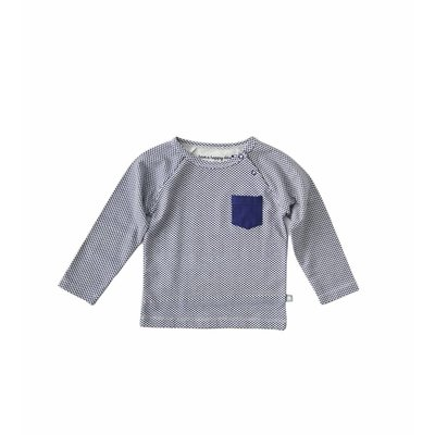 Little Label Shirt baby boy – donkerblauwe diamant– maat 74 en 80