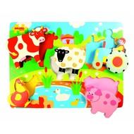 Bigjigs Toys Houten speelgoed Puzzel - de Boerderij