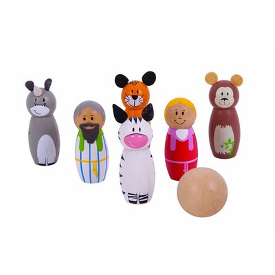 Bigjigs Toys Houten Speelgoed Kegelset Ark van Noach