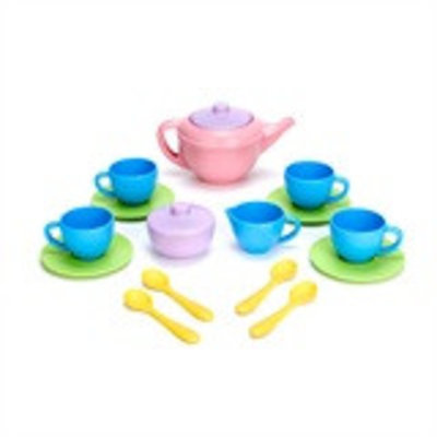 Green Toys Theeservies Speelset - PINK TEAPOT