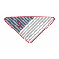 Applepark Bandana Bibs Grey stripes