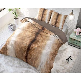 Sleeptime Reindeer Skin Taupe dekbedovertrek