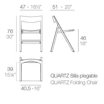 Vondom Quartz klapstoel