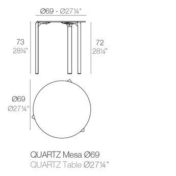 Vondom Quartz eettafel rond 69 x 73 cm