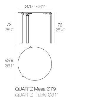 Vondom Quartz eettafel rond 79 x 73 cm