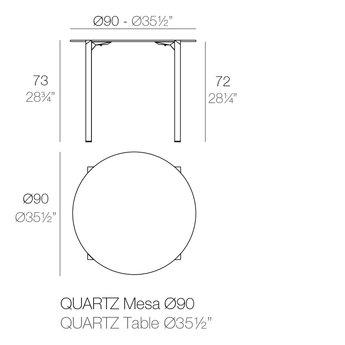 Vondom Quartz eettafel rond 90 x 73 cm