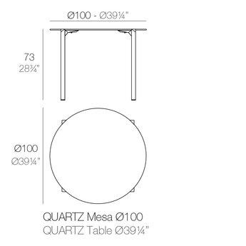 Vondom Quartz eettafel rond 100 x 73 cm