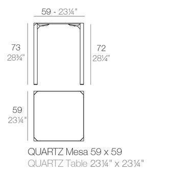 Vondom Quartz eettafel 59 x 59 x 73 cm