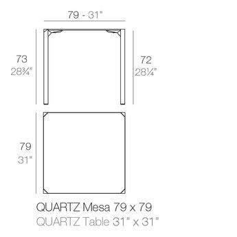 Vondom Quartz eettafel 79 x 79 x 73 cm