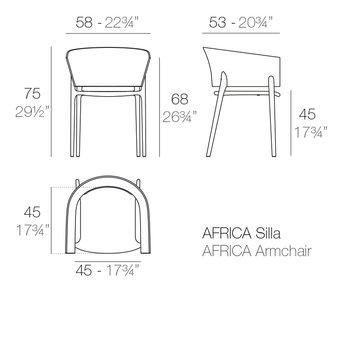 Vondom Africa armstoel