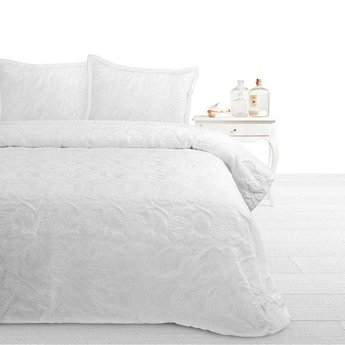 Fancy Embroidery bedsprei Pure A White
