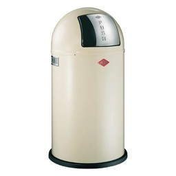 Wesco Pushboy 50L AMANDEL afvalemmer
