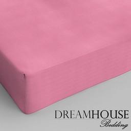 Dreamhouse bedding hoeslaken katoen ROZE
