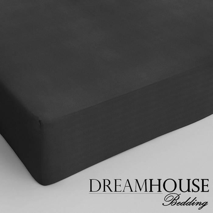 Dreamhouse bedding hoeslaken katoen ANTRACIET