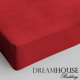 Dreamhouse bedding hoeslaken katoen ROOD