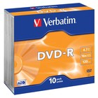 Verbatim DVD-R 4.7GB 120min 16x 10-pack slimline