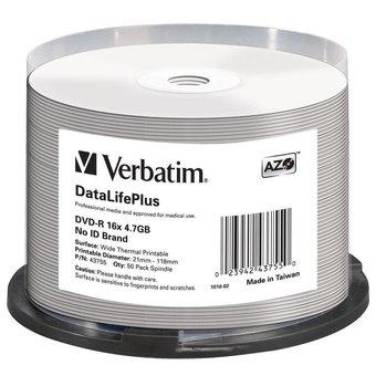 Verbatim DVD-R 4.7GB 120min 16x 50-pack spindle