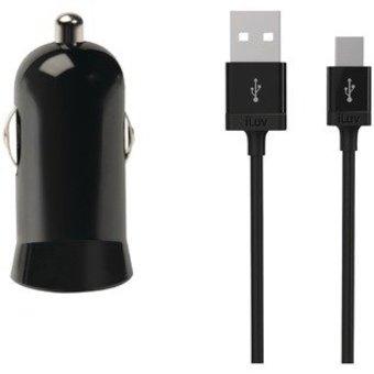 iLuv iAD225BLK Car Charging Kit voor smartphones/USB