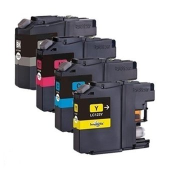 Brother LC-123 INKCARTRIDGES MULTIPACK 4STKS (HUISMERK)