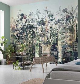 Flower & Textures Fotobehang Komar Steden behang Urban Jungle