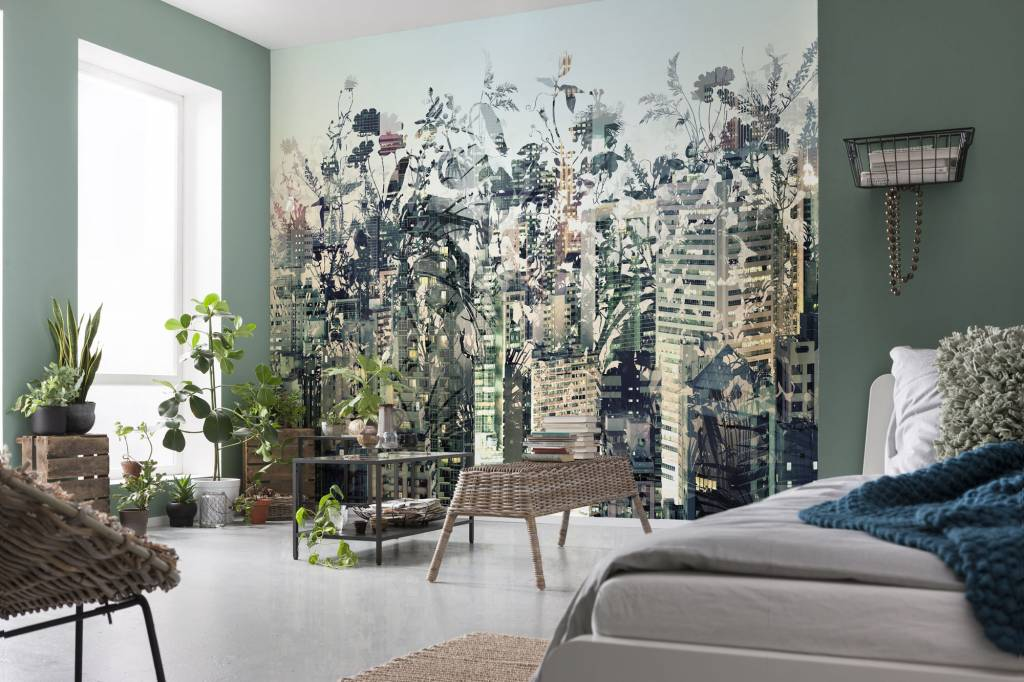 Flower & Textures Edition 1 Fotobehang Komar Steden behang Urban Jungle