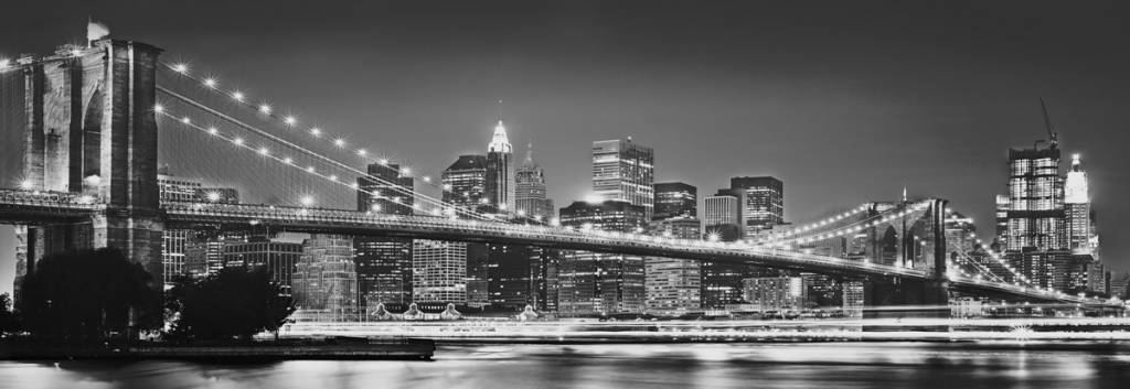 Foto Behang New York.Fotobehang Komar Steden Behang New York Brooklyn Bridge Rap