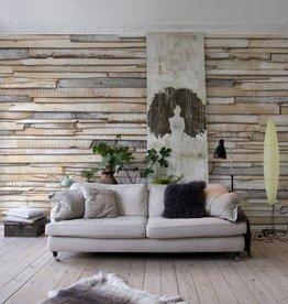 Flower & Textures Fotobehang Komar Stijlen Behang Whitewashed wood