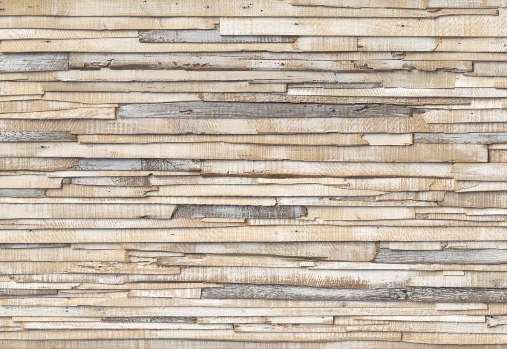 Flower & Textures Edition 1 Fotobehang Komar Stijlen Behang Whitewashed wood