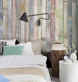 Flower & Textures Fotobehang Komar Stijlen Behang Vintage Wood