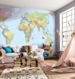 Scenics Edition 2 Fotobehang Komar Wereldkaarten Behang World Maps XXL