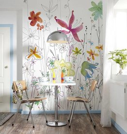 Flower & Textures Fotobehang Komar Bloemen Behang Joli XXL