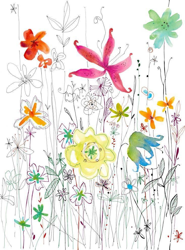 Flower & Textures Edition 1 Fotobehang Komar Bloemen Behang Joli XXL
